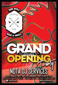 bar grand opening flyer bar grand opening flyer rome fontanacountryinn com