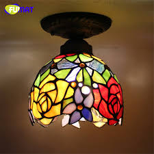 stained glass ceiling light. FUMAT Glass Ceiling Lamp European Baroque Stained Indoor Light Fixtures For Balcony Front Porch Aisle