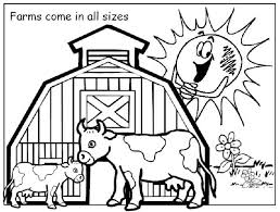 Small Picture Free printable coloring pages Farm Picture with a cheerful sun