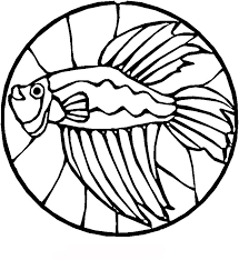 Fish Stained Glass Coloring Pages Free Printable Coloring Pages For