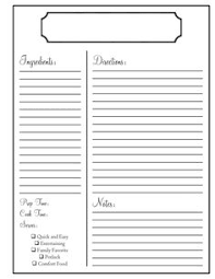 Recipe Book Template Free Printable Magdalene Project Org