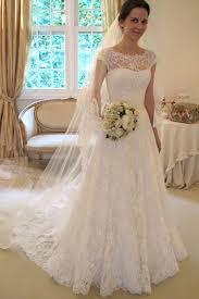 cap sleeve lace a line wedding dresses 2017 long custom wedding