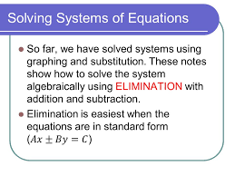 2 solving systems of equations