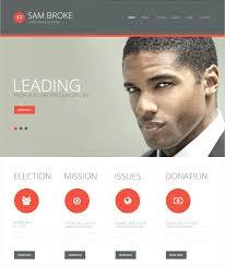 Political Website Templates Simple Politics Template Election Website Templates Free
