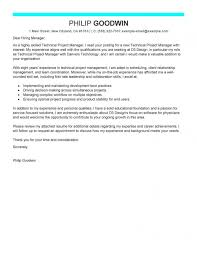 Leading Professional Technical Project Manager Cover Letter Examples