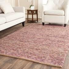 willpower jute area rug safavieh bohemian hand woven natural purple wool