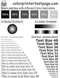Color Print Test Page Print Color Or Black White Test Pages A