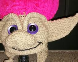 Trolls Crochet Hat Pattern Adorable Troll Hair Hat Etsy