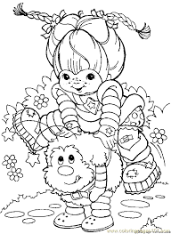 Small Picture Rainbow Bright Coloring Page 20 Coloring Page Free Rainbow Brite