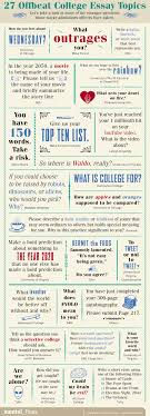 offbeat college essay topics mental floss  see larger