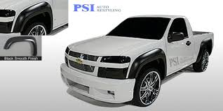 BLACK PAINTABLE Extension Fender Flares 2004-2012 Chevrolet ...