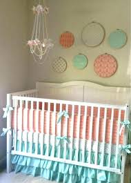 girl crib bedding gold baby c peach mint and ruffled belle image 0 c and gold crib bedding