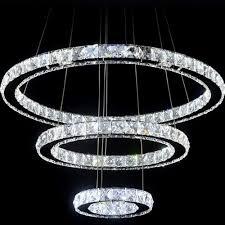 ring led pendant light fixture led crystal ring chandelier lamp light lighting