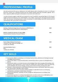 Resume For Doctors Sample Customer Service Mbbs Doctor Format