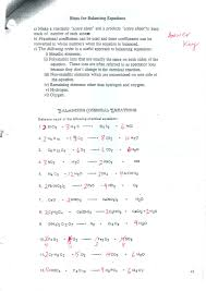 balancing chemical equations worksheet 1 answer key for the