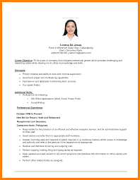 Career Objectives For Resumes Career Objective Resume Examples