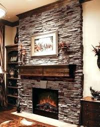 stacked stone fireplace designs stones for designing your new with ledge dry stack fireplaces and brick
