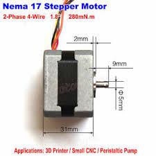 shinano nema 17 2 phase 4 wire stepper motor cnc robot reprap prusa image is loading shinano nema 17 2 phase 4 wire stepper