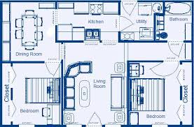 floor plan of a house with dimensions. Home Floor Plan 864 Sq.ft. 2 Bedroom, 1 Bathroom Of A House With Dimensions