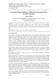 pdf an implicit finite difference method for solving the heat transfer equation