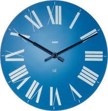 wall clock in abs light blue quartz movement alessi