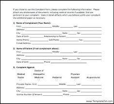 Sample Patient Complaint Form | Cvfree.pro