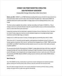 Partnership Agreement Between Companies Free 60 Partnership Agreement Examples Samples In Pdf
