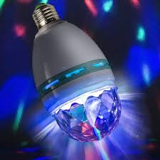 Paradise 2 In 1 Rotating Party Light Sterno Home 20963wh Rotating Party Bulb Multi Color