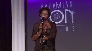 Ava Burke-Thompson accepts the 2015 Bahamian Icon Award for Tourism -  YouTube