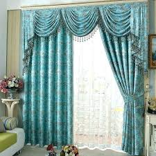 Teal Patterned Curtains Fascinating Teal And Grey Blackout Curtains Mdrive