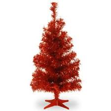 Red Christmas Trees Youu0027ll Love  WayfairRed Artificial Christmas Trees