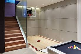 diy basketball hoop home gym contemporary with indoor basketball court recessed lighting