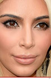 kim kardashian wedding makeup close up