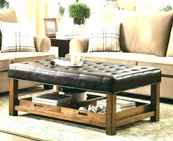 faux leather ottoman coffee table black leather tufted ottoman leather