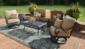 brown set patio source outdoor. Interior: Bahia Tan 4 Piece Outdoor Wicker Conversation Set Thy Hom Within Brown Patio Source