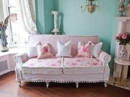 Shabby Chic Sofa Elegant Shabby Chic Couch Sofa Cottage White Pink Antique  Vintage