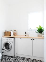 laundry furniture. Beach Style Single-wall Dedicated Laundry Room In Gold Coast - Tweed With Flat- Furniture