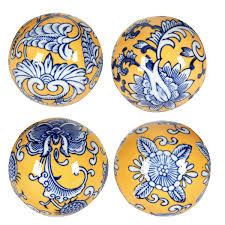 Decorator Balls Blue Yellow decorator balls AV100 52