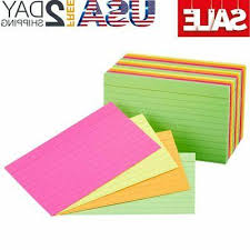 3x5 Cards Amazonbasics Ruled Index Cards Assorted Neon 3x5 Inch 300