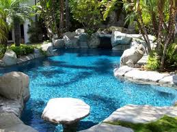 natural looking in ground pools. Image May Contain: Outdoor Natural Looking In Ground Pools