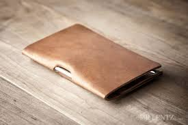 minimal leather notebook cover