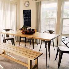 Hairpin dining table Live Edge 6ft Hairpin Dining Table Modern Dining Tables Los Angeles By Saint Arbor Houzz 6ft Hairpin Dining Table Modern Dining Tables Los Angeles By