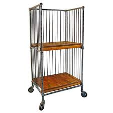 vtg 1940 50s simmons furniture metal medical. Caged Bindery Cart With Castors, Metal And Wood Rolling Printer\u0027s Shelf Vtg 1940 50s Simmons Furniture Medical E