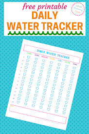 Free Printable Daily Water Tracker Daily Water Water