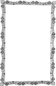 Vector drawing of old ornate frame with flower design Public