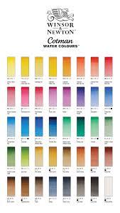 Winsor And Newton Cotman Color Chart Cotman Water Colour 8ml Tube Winsor Newton