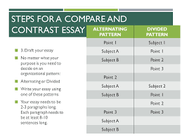 compare and contrast writing do these activities on your own paper  steps for a compare and contrast essay 3