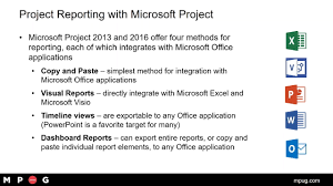 Microsoft Office Reports Microsoft Project Reporting Using Integration With The