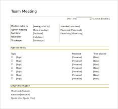 Meeting Agenda Sample Doc Adorable Team Meeting Agenda Template Colbroco