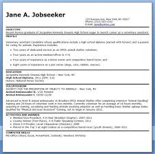 Veterinary Resumes Veterinary Assistant Resume Examples Cover Letter For